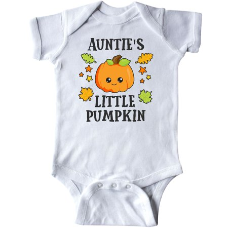 Inktastic Aunties Little Pumpkin With Leaves And Stars Infant Creeper Halloween