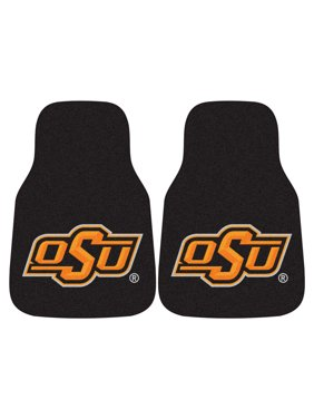 "Oklahoma State 2-pc Carpeted Car Mats 17""x27"""