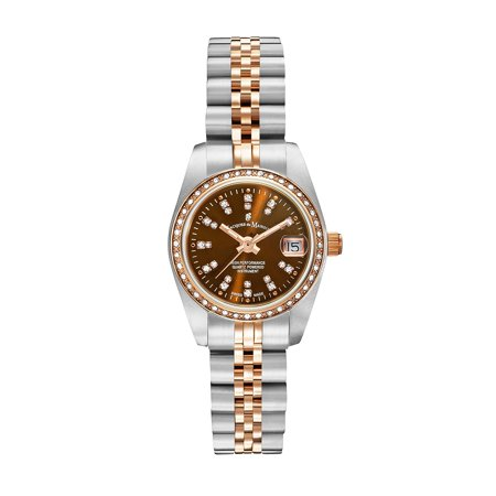 Jacques Du Manoir Swiss Made Two Tone Rose Gold Stainless Steel Women's Watch, 26mm