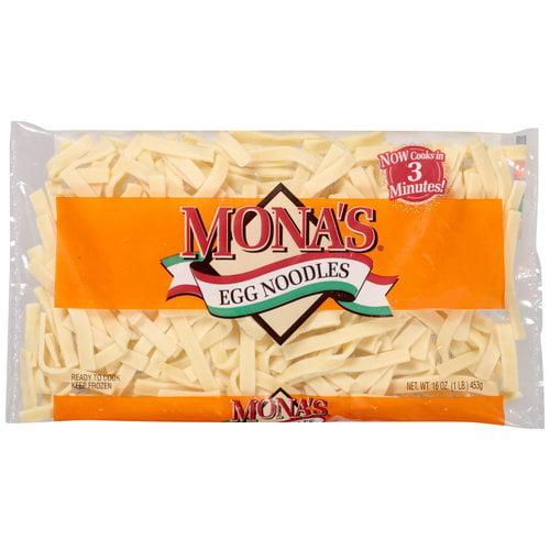 Mona's Egg Noodles, 16 oz