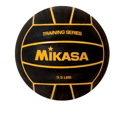 Training Water Polo Ball by Mikasa Sports - Size 5, Black/Yellow - 3.3 Lbs