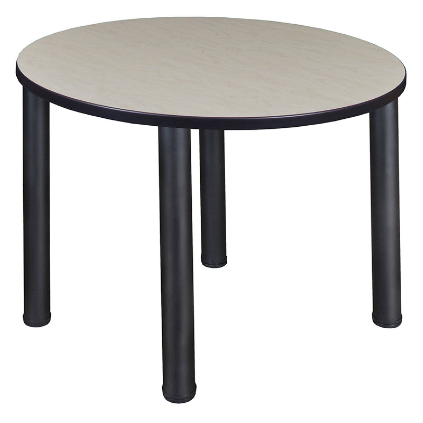"Kee 48"" Round Breakroom Table- Maple/ Black"