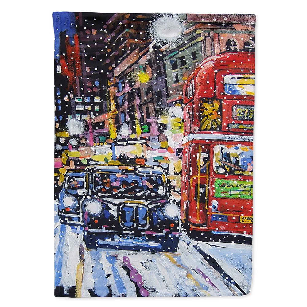 London Snow by Roy Avis Flag Canvas House Size