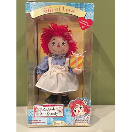 Raggedy Anne Porcelain Doll Brass Key Keepsakes Gift Of Love 7