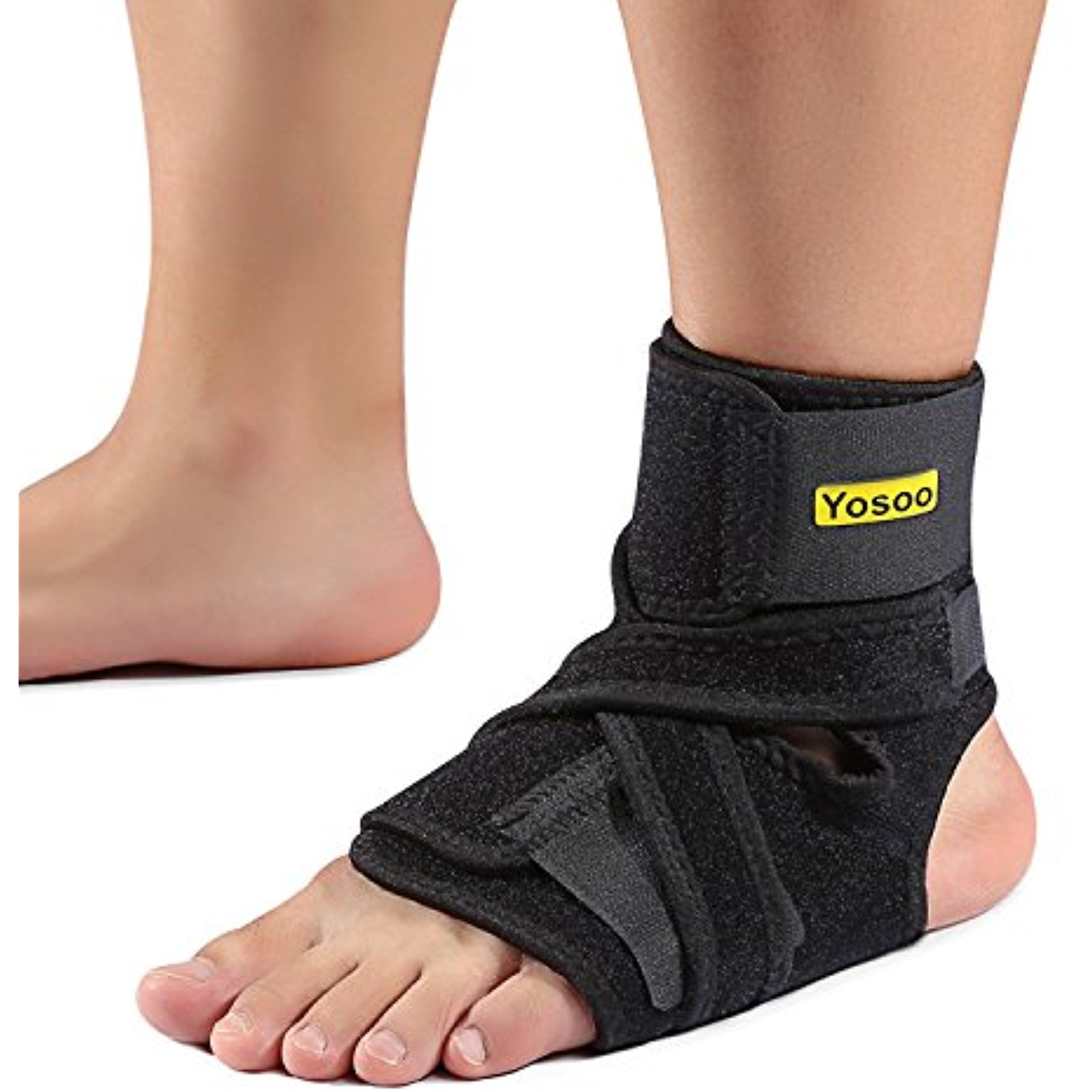 Yosoo Ankle Brace - Breathable Neoprene Adjustable Compression Ankle Support Stabilizer for Ankle Sprain Tendons, One Size, Black