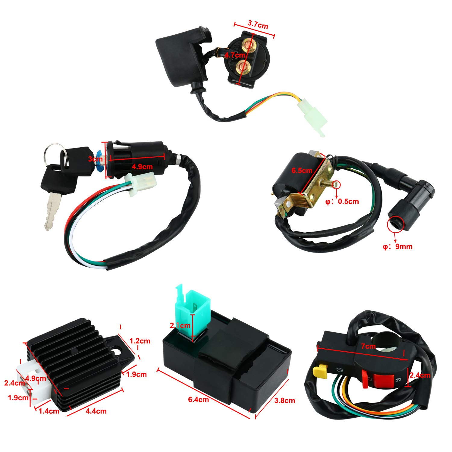 YaeGarden CDI Coil Electric Stator Coil CDI Igination Coil CDI Wiring  Harness Kit CDI Wire Assembly for 4 Stroke ATV KLX 50cc 110cc 125cc Quad  Bike Buggy Go Kart - Walmart.com -Walmart