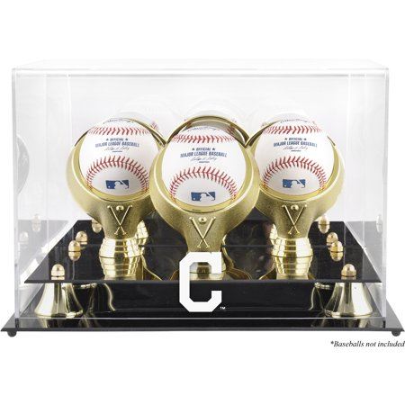 (Cleveland Indians Fanatics Authentic Golden Classic Three Baseball Logo Display Case - No Size)