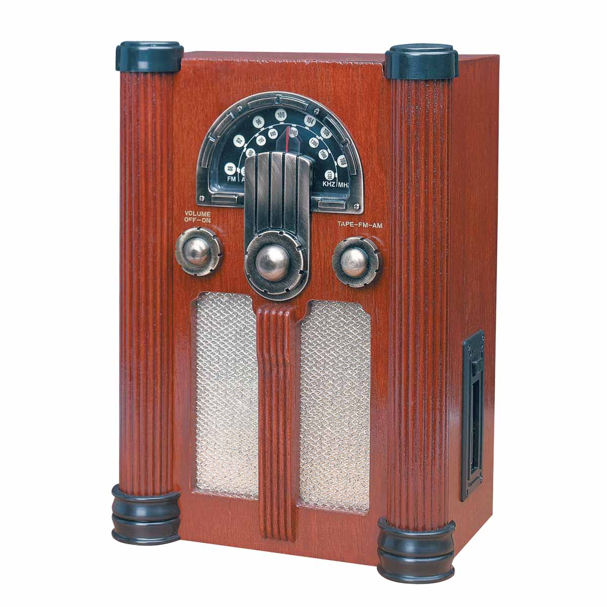 "Radios Natural Oak Empire Tape/Radio AC Operated 14""H 