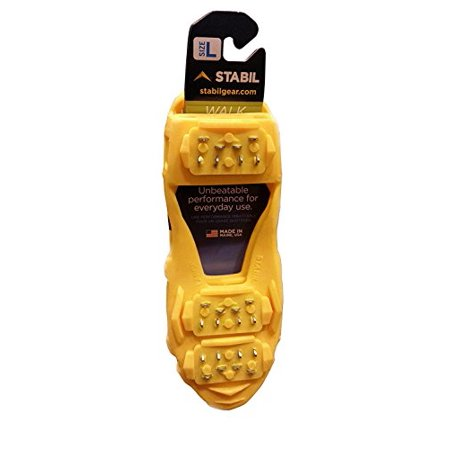 STABILicers Walk Stabilicers Ice Traction Cleat for Snow and Ice - Lite Duty Serious Traction cleats for Boots and Shoe Ice Cleats (Yellow, Medium (7.5-10 Men / 8.5-12