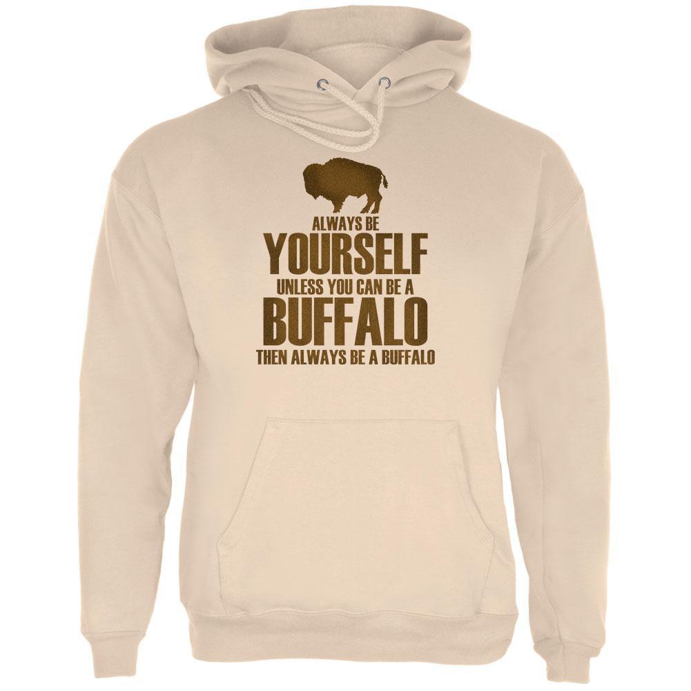 Always be Yourself Buffalo Bison Mens Hoodie