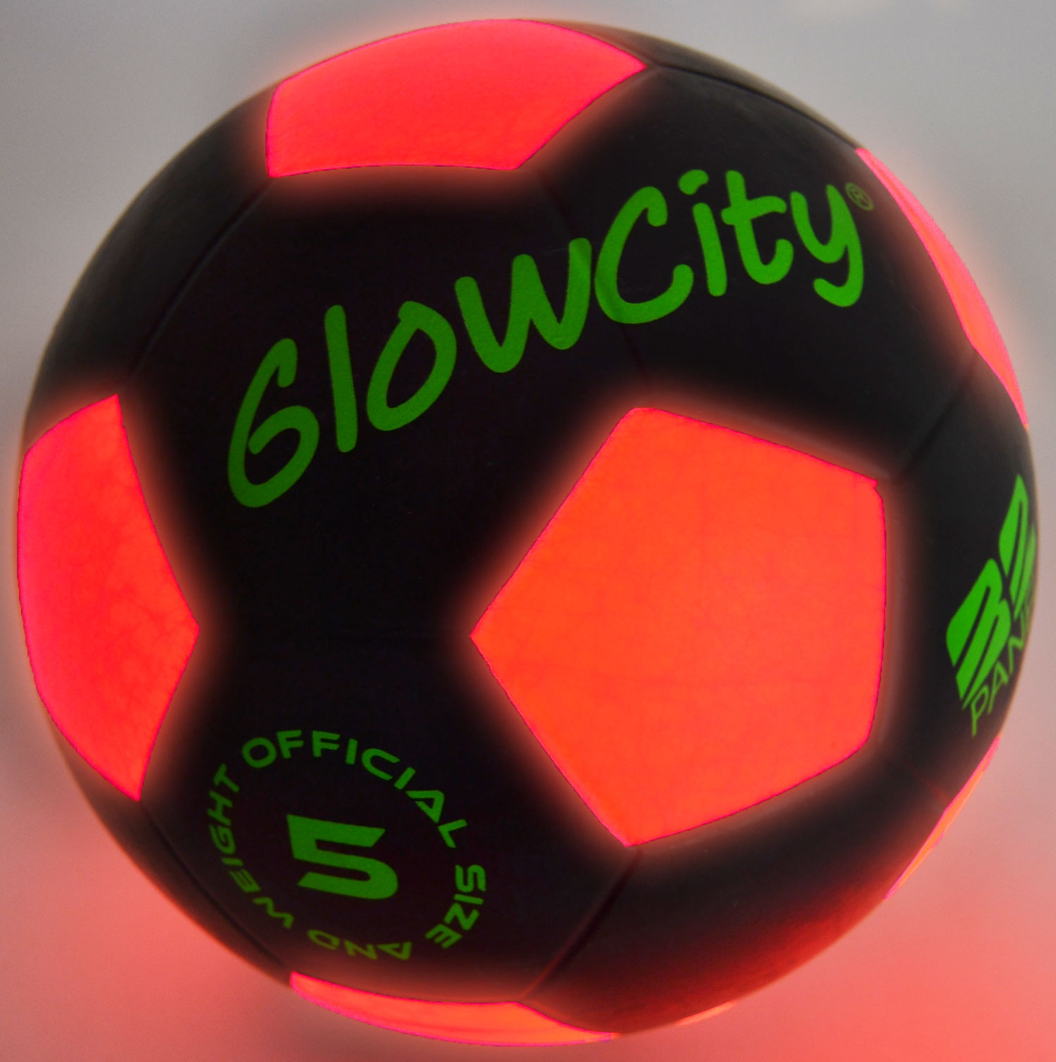 Light Up Soccer Ball Black Limited Edition by GlowCity