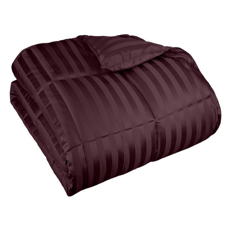 Grand Down All Season Wide Stripes Down Alternative Comforter