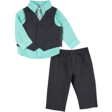 George Newborn Baby Boy Pinstripe Dress Set