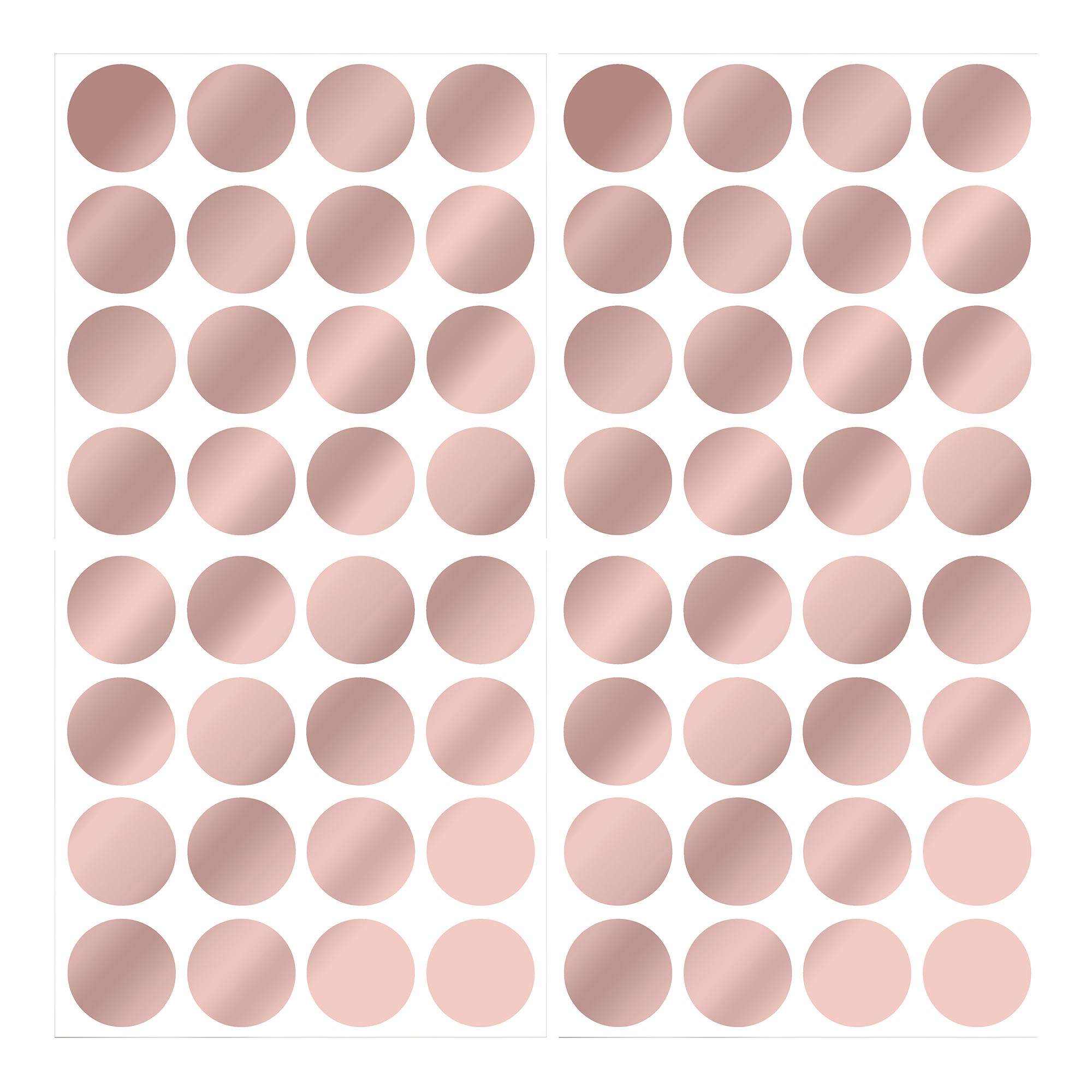 Rose Gold Confetti Dot Decals