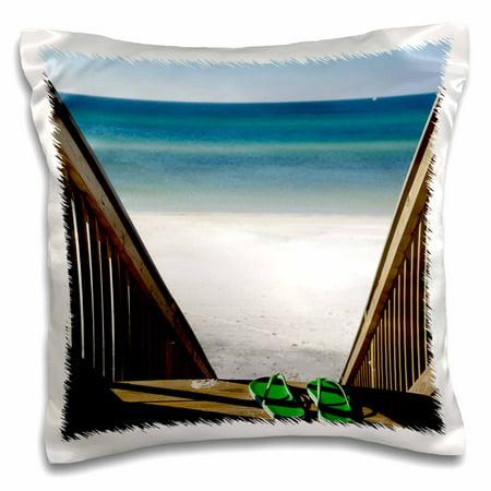 3dRose Beach Sandals, Fort Walton Beach, Florida - US01 FVI0006 - Franklin Viola, Pillow Case, 16 by 16-inch - Party City Fort Walton
