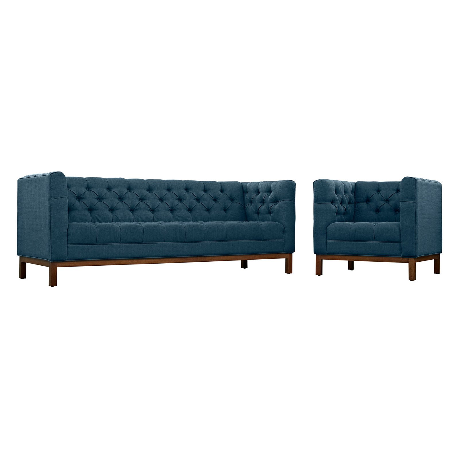 Modway Panache Living Room Set, Upholstered, Set Of 2 (Armchair And Sofa),  Multiple Colors   Walmart.com