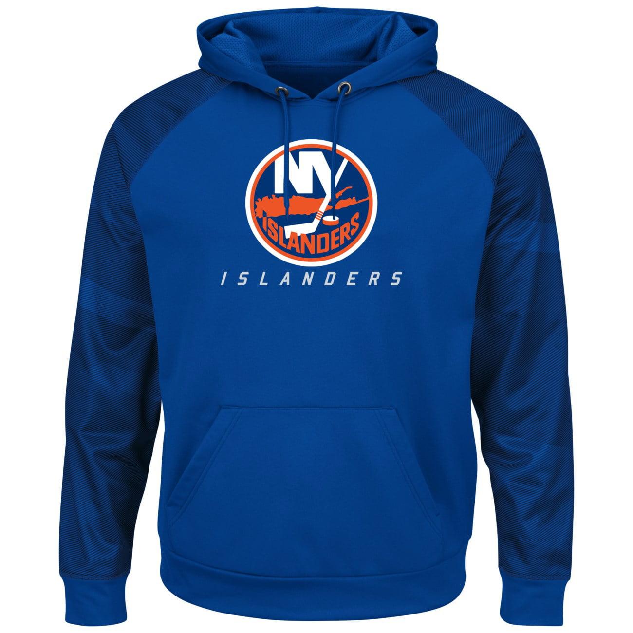 New York Islanders Majestic NHL Penalty Shot Men's Hooded Therma Base Sweatshirt by MAJESTIC LSG
