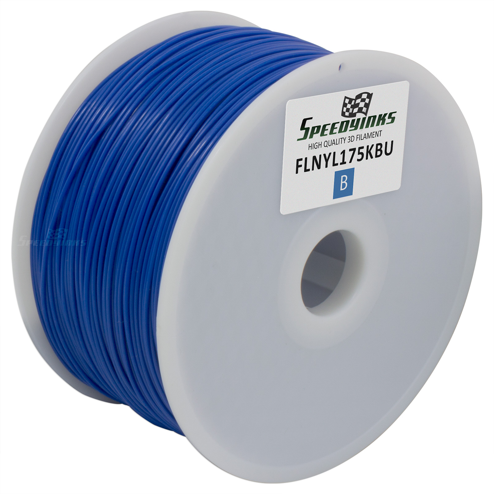 Speedy Inks - 1.75mm 1kg Nylon Blue Filament for 3D Printers