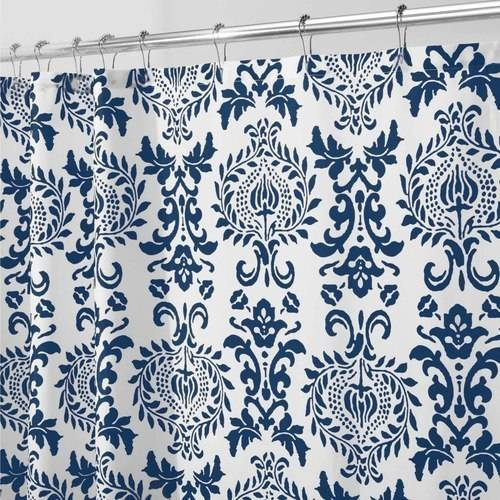 InterDesign Damask Fabric Shower Curtain, Various Sizes & Colors