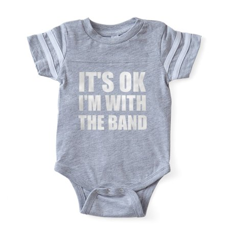 01db378d CafePress - Its OK Im With The Band - Cute Infant Baby Football Bodysuit -  Walmart.com