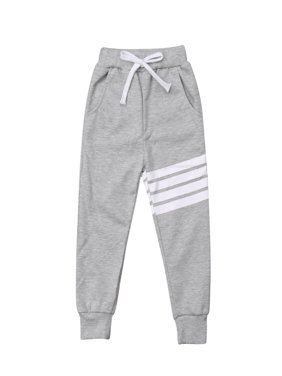 Baby Boy Girls Sports Pants Toddler Kid Sweat Pants Joggers Elastic Bottoms 1-7T