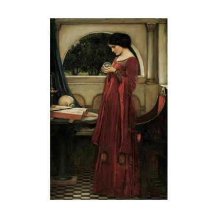 The Crystal Ball Fine Art Painting of Woman Print Wall Art By John William Waterhouse