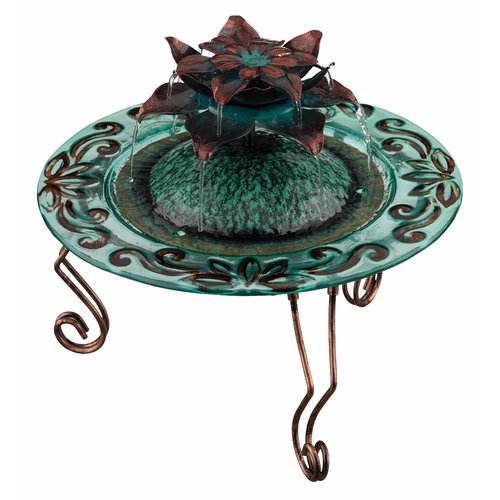 Regal Art & Gift Glass Lotus Water Fountain