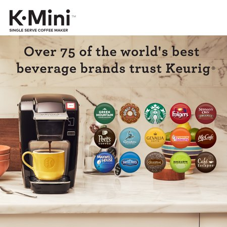 Keurig K-Mini K15 Single Serve, K-Cup Pod Coffee Maker, Black