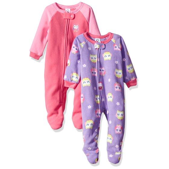 Gerber Childrenswear LLC - Baby Toddler Girl Microfleece Footed Blanket  Sleeper 6c195dc76