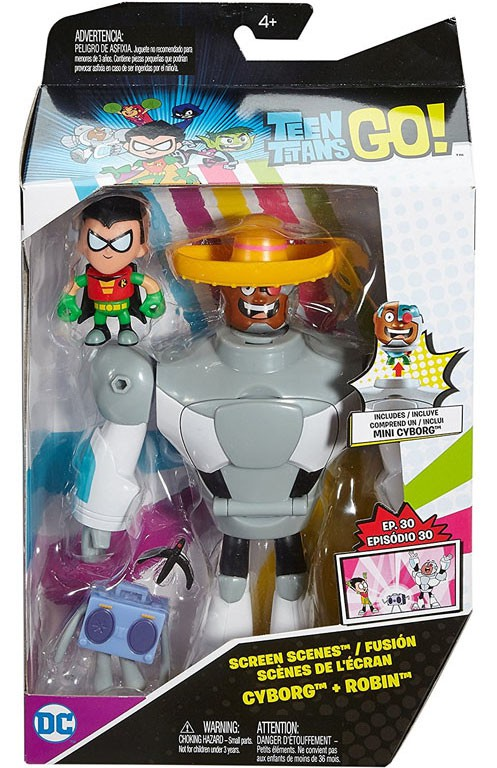 Teen Titans Go! Screen Scenes Cyborg & Robin Action Figure by Mattel