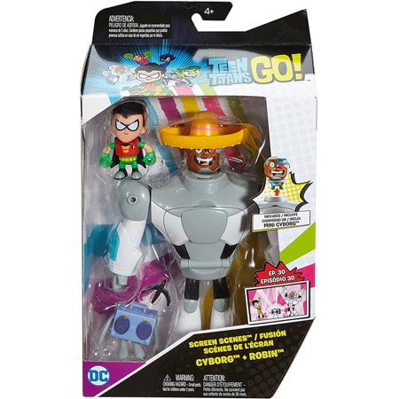 Teen Titans Go! Screen Scenes Cyborg & Robin Action Figure - Teen Titan Robin