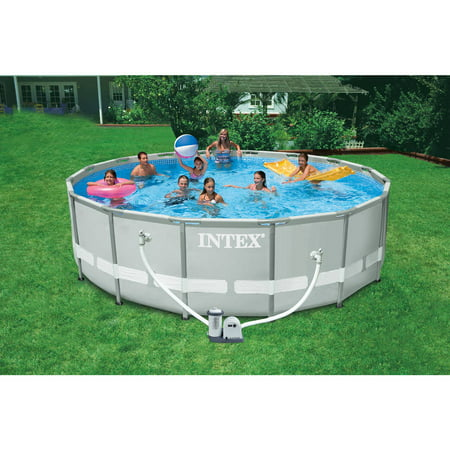 Intex 16 39 x 48 ultra frame swimming pool for Piscine hors sol ultra frame