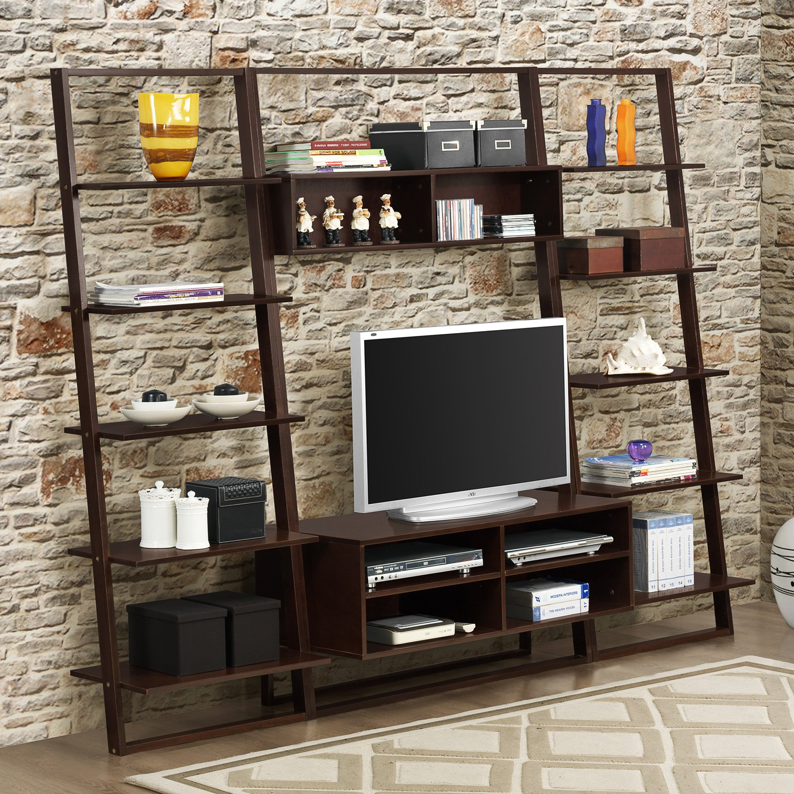 4D Concepts Arlington TV Stand with Wall Shelf
