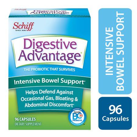 Digestive Advantage Intensive Bowel Support, Probiotic Digestive Enzyme Supplement, 96 (Best Digestive Enzymes And Probiotics)