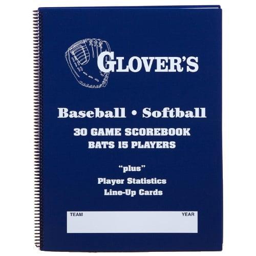 Glovers 9 to 15 Player Baseball Softball Scorebook (30 Games) BB-106 by Glovers