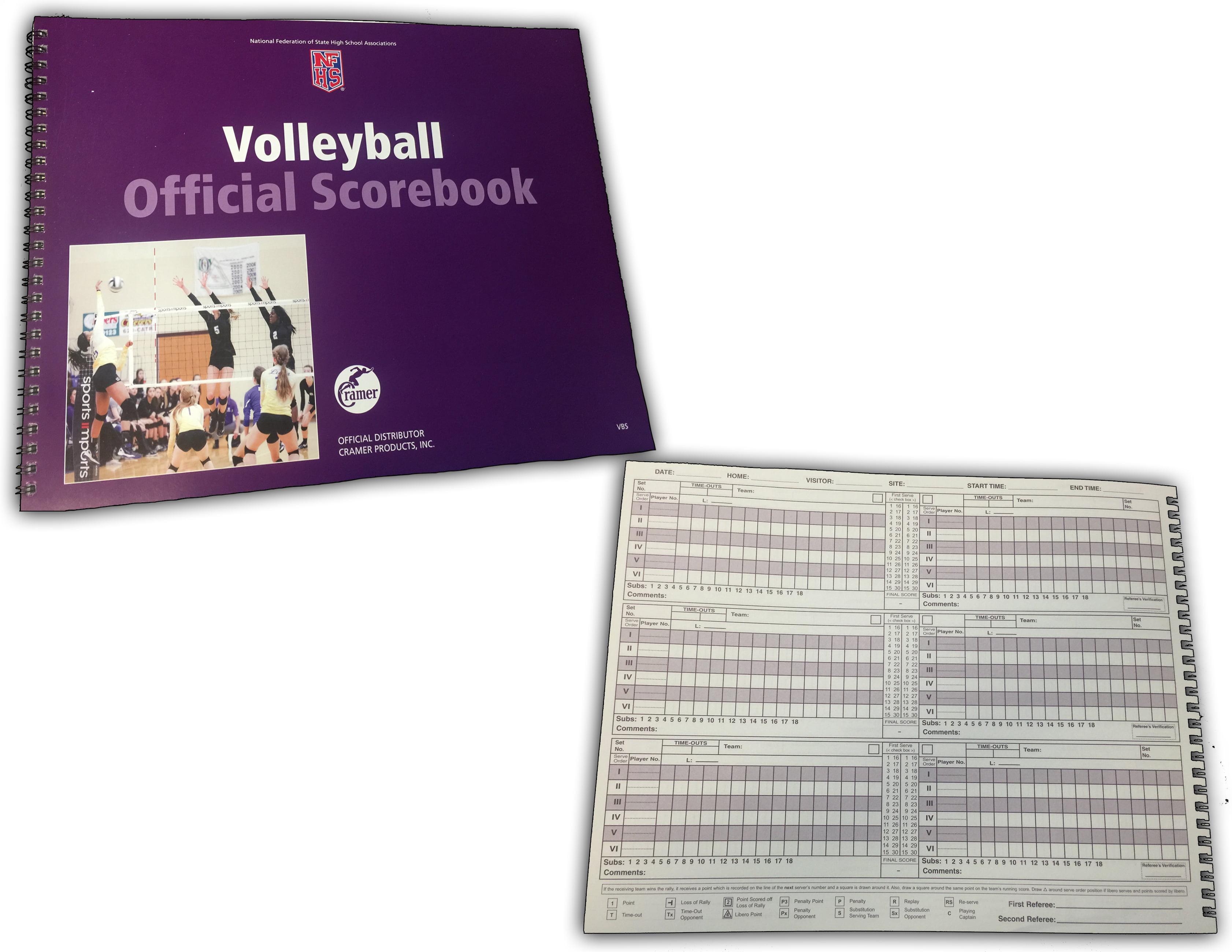 Cramer Official NFHS Volleyball Scorebook by Cramer