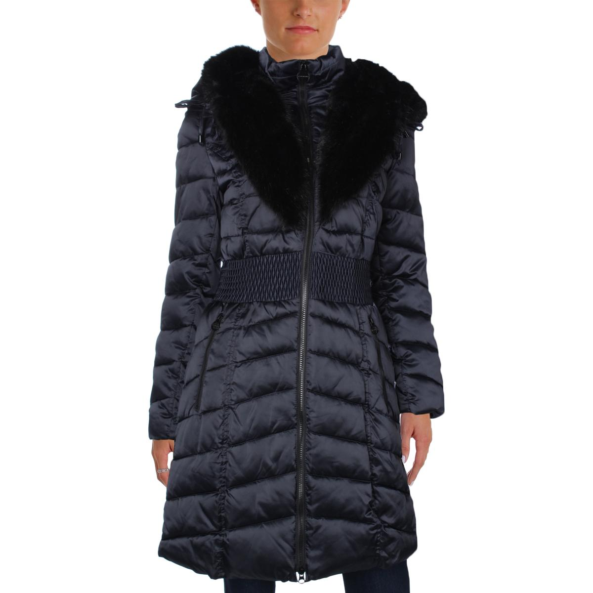 Laundry by Shelli Segal Womens Smocked Faux Fur Parka by Laundry by Shelli Segal