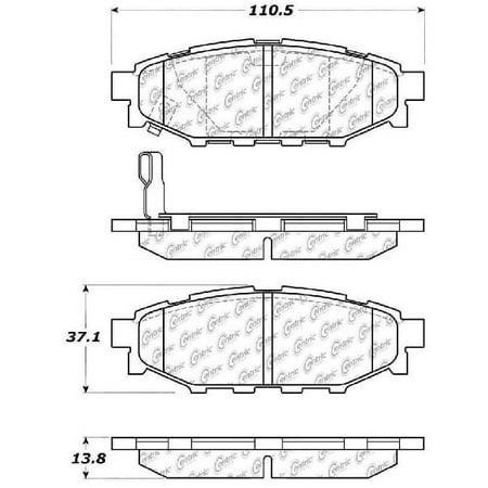 Go-Parts OE Replacement for 2005-2014 Subaru Outback Rear Disc Brake Pad Set for Subaru Outback (2.5i / 2.5i Convenience / 2.5i Limited / 2.5i Premium / 2.5i Touring / 3.0)
