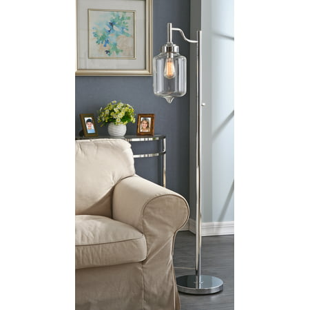 Kenroy Casey Floor Lamp - Chrome