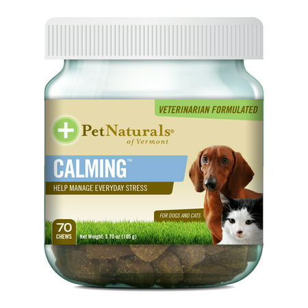 Pet Naturals Of Vermont Calming For Dogs And Cats Chews  3 70 Oz  70 Count