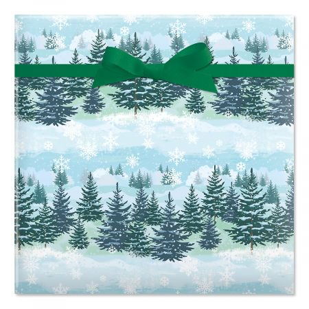 Christmas Forest Jumbo Rolled Gift Wrap - 67 sq. ft. (Christmas Gift Wrap)