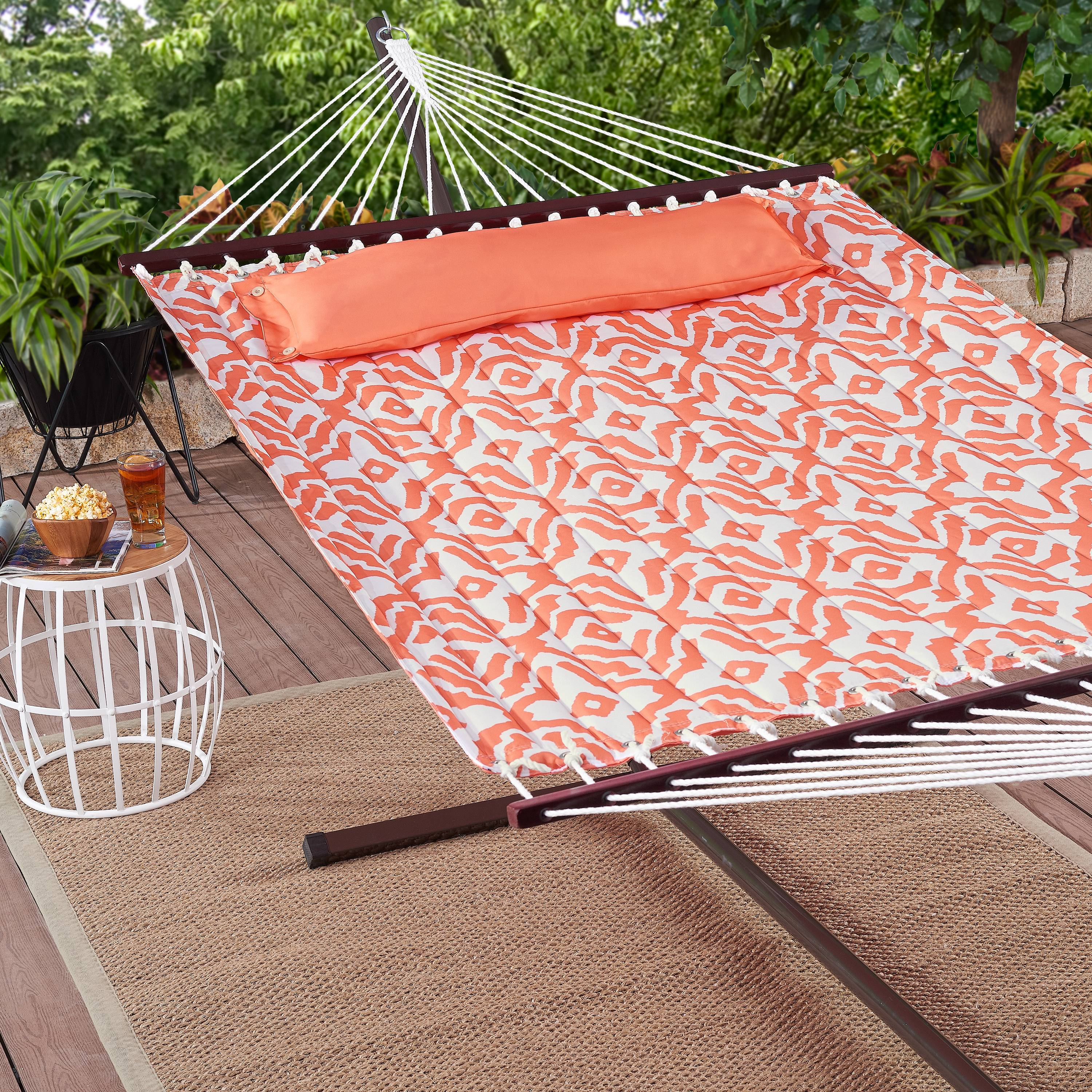 Mainstays Harley Hills Quilted Outdoor Double Hammock