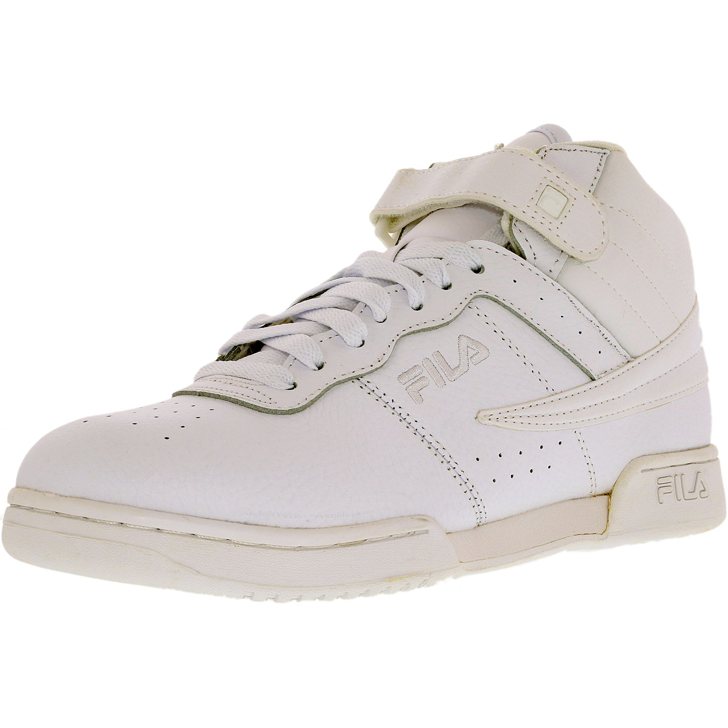 Fila Men's F-13V Leather Synthetic Triple White Ankle-High Leather Fashion Sneaker 10M by Fila