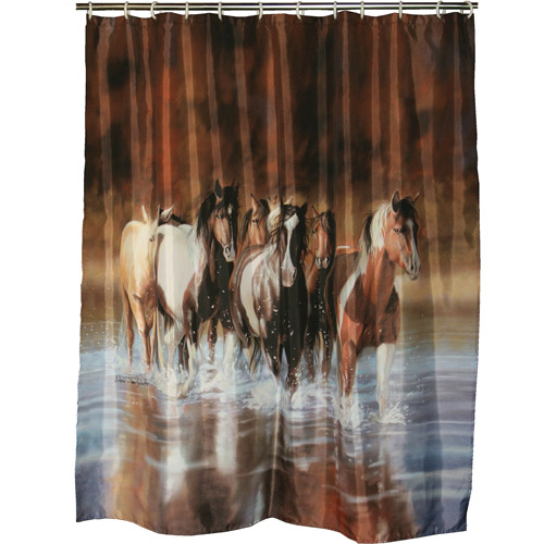 Marvelous Rivers Edge Products V Shultz Horse Shower Curtain