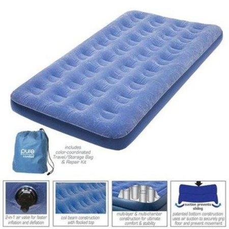 Pure Comfort Low Profile Flock Top Air Bed