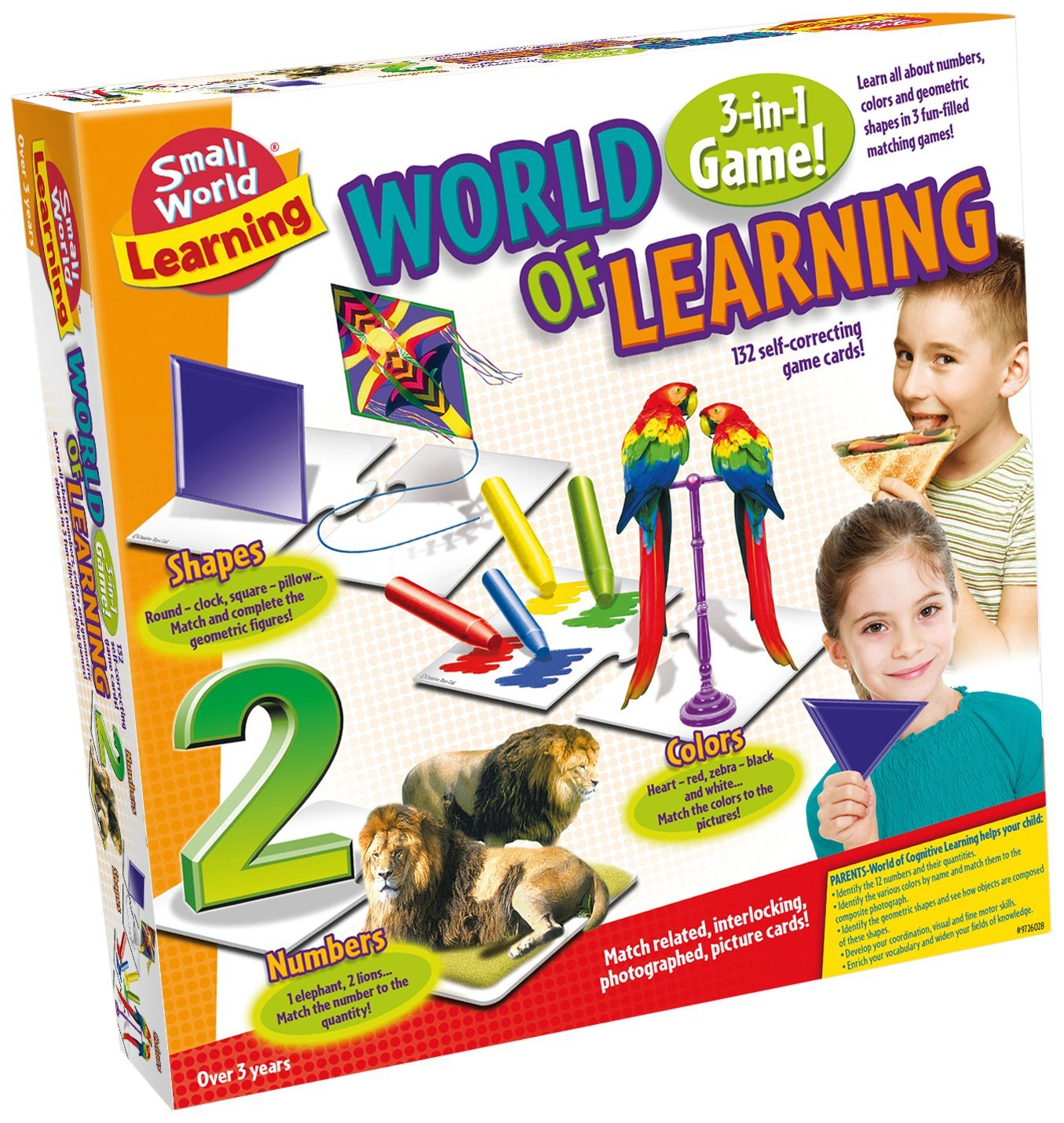 Learning World of Learning Card Game, 132 self-correcting game cards! By Small World Toys by