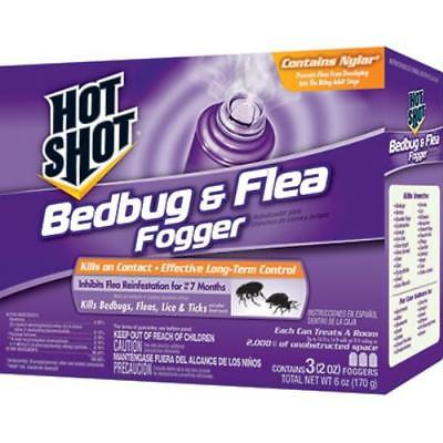 3 Pack 2 OZ Bedbug & Flea Fogger Can Treat Up To 14,000-24,000 CUFT