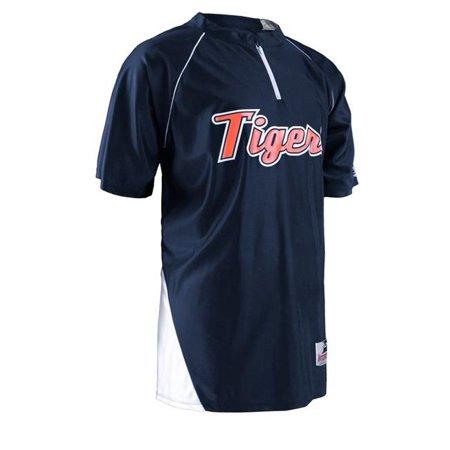 Shooting Jersey - Intensity N7410065LRG Shooting Jersey 0.25 Zip Short Sleeve T-Shirt, Navy & White - Large