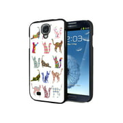 KuzmarK Samsung Galaxy S4 Black Cover Case - Kitty Cat