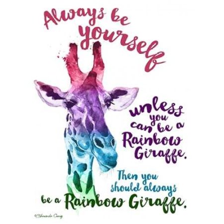 Sagebrush Fine Art PDXSE1194SMALL Rainbow Giraffe Poster Print by Shawnda Craig, 9 x 12 - Small - image 1 of 1